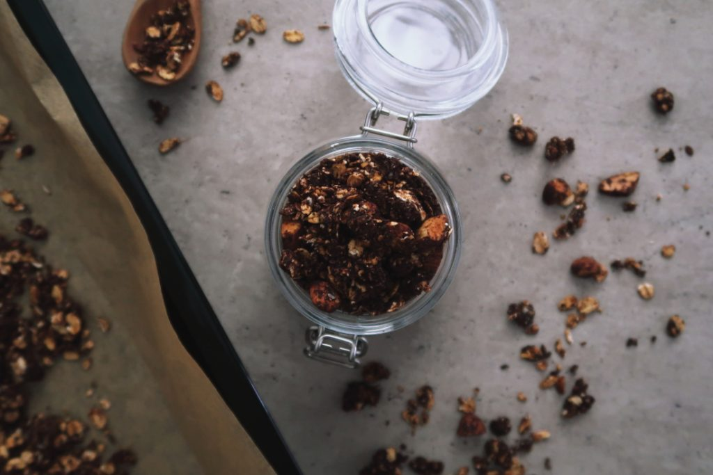 salted-chocolate-tahini-granola