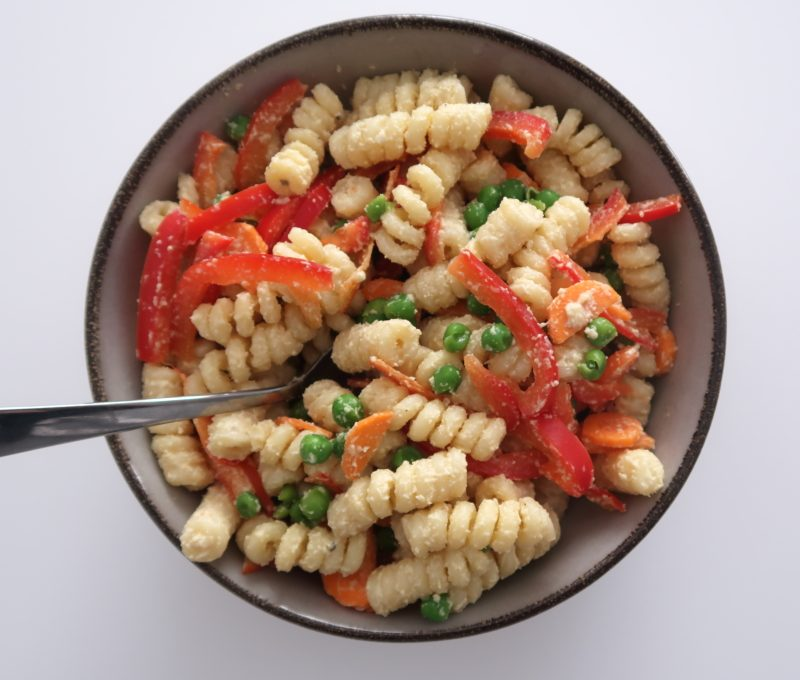 Vegan Pasta Salad (healthy & oil-free)