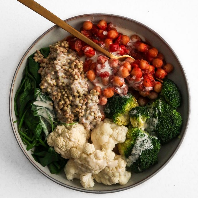 Warming Chickpea Bowl (oil-free)