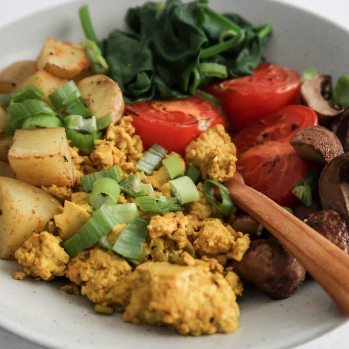 Healthy Tofu Scramble Breakfast Bowl