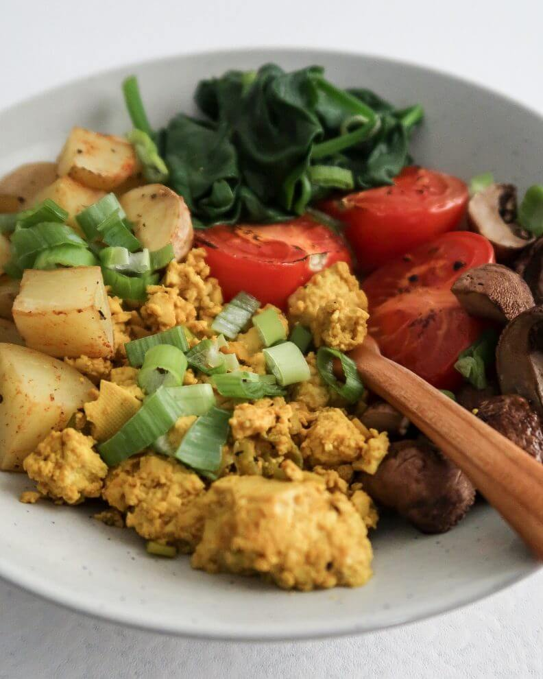 Healthy Tofu Scramble Breakfast Bowl