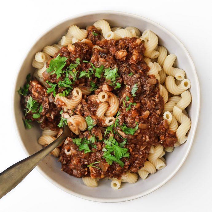 Vegan Mushroom Bolognese Sauce