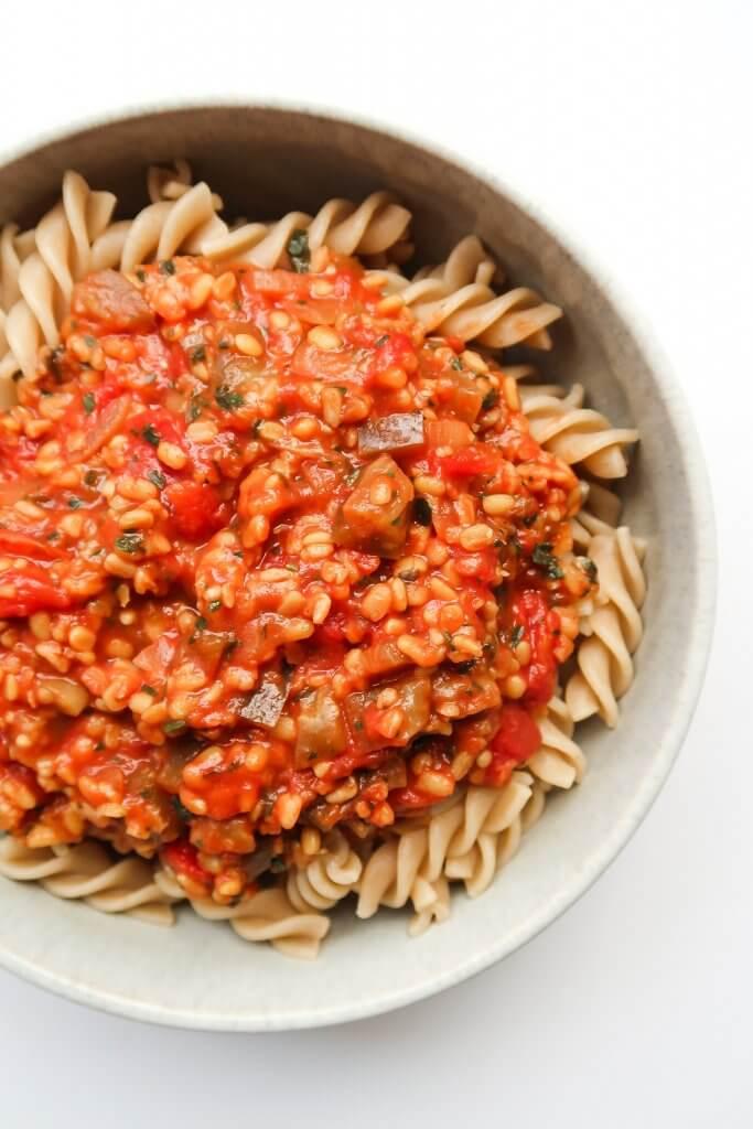 vegan-lentil-bolognese