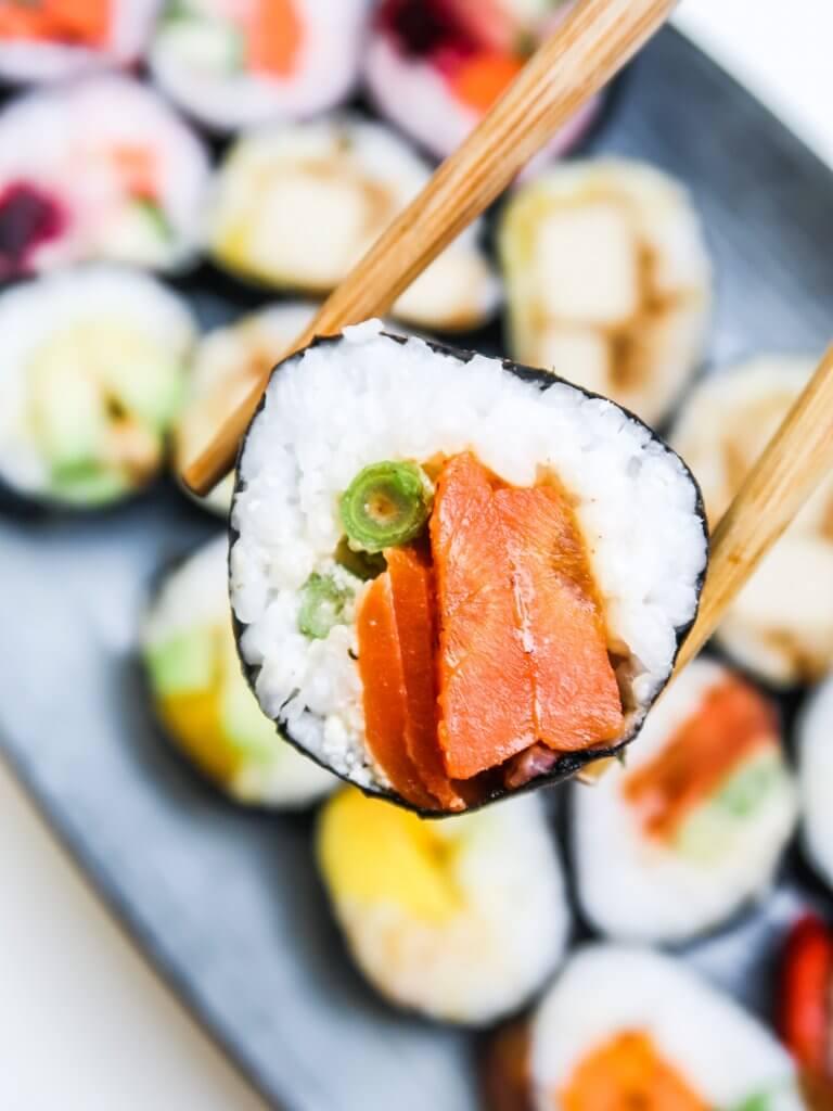 vegan-sushi-rolls-carrot-lox