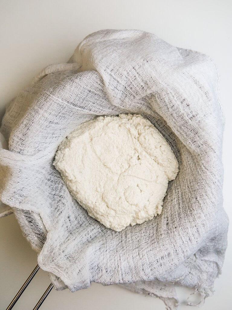 vegan-cheese-in-cheese-cloth